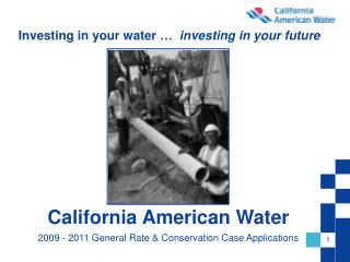 Investing in your water …   investing in your future