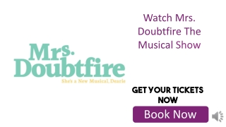 Discount Mrs. Doubtfire The Musical Tickets