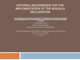 national  mACHINERIES  for the implementation of the  brasilia  declaration