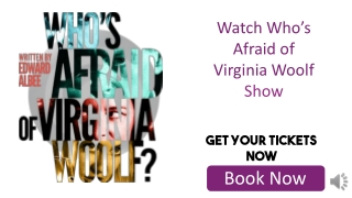 Who's Afraid of Virginia Woolf Tickets Discount Coupon