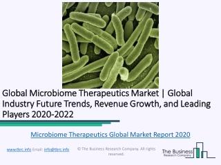 Global Microbiome Therapeutics Market Report 2020