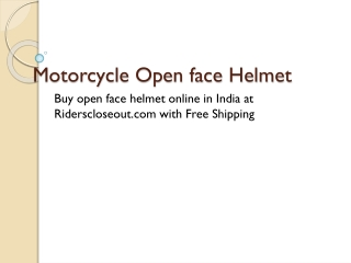 Open face helmet|open face motorcycle helmet
