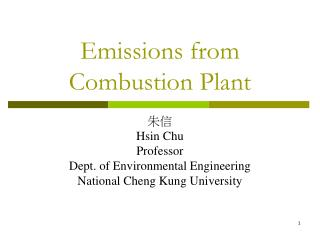 Emissions from Combustion Plant