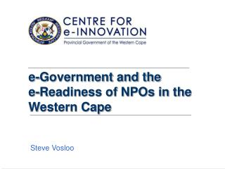 e-Government and the  e-Readiness of NPOs in the Western Cape