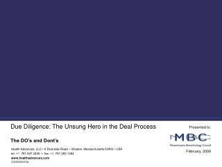 Due Diligence: The Unsung Hero in the Deal Process