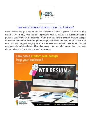 How can a custom web design help your business?