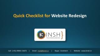 Quick Checklist for Website Redesign