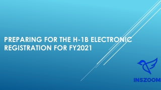 Preparing for the H-1B electronic registration for FY2021 | INSZoom