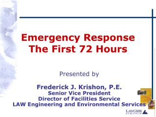 Emergency Response The First 72 Hours