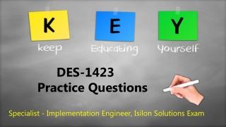 Isilon Solutions Exam DES-1423 Dumps