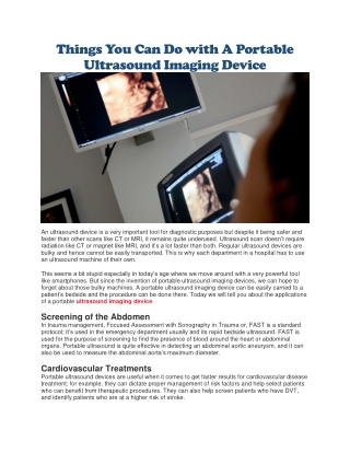 Ultrasound imaging device