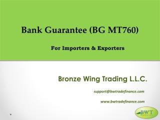 Bank Guarantee MT760 – Bank Guarantee Providers