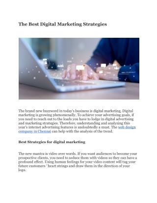 The Best Digital Marketing Strategies