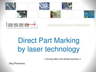 Direct Part  Marking by laser  technology