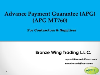 Advance Payment Guarantee – Advance Payments – Advance Payment Bond