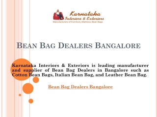 Bean Bag Dealers Bangalore
