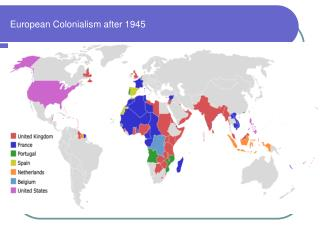 European Colonialism after 1945