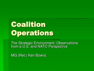 Coalition Operations