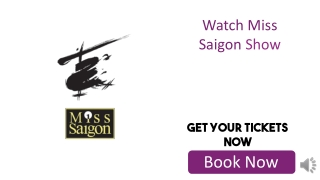Discounted Miss Saigon Tickets