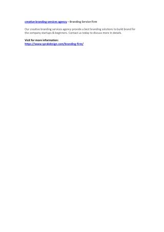 creative branding services agency – Branding Service Firm