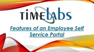 Features of an Employee Self Service Portal