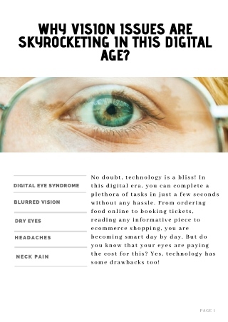 Healing The Eye: Why Vision Issues are Skyrocketing in this Digital Age?
