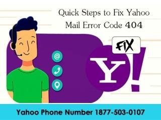 Yahoo Mail Phone Number 1877-503-0107