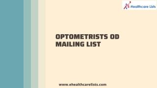 Affordable Optometrist OD Mailing List