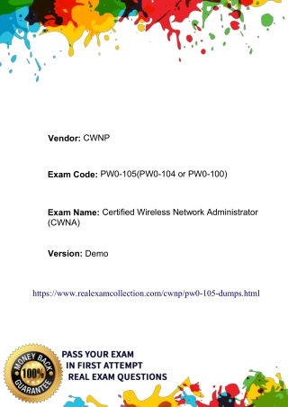 Real CWNP PW0-105 Exam Dumps