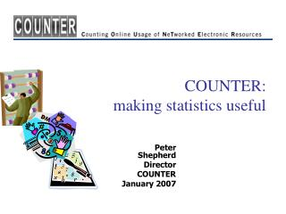 COUNTER:  making statistics useful