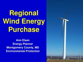 Regional Wind Energy Purchase
