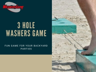 Washers Game with 3 Holes--Fun Game for Your Backyard Parties