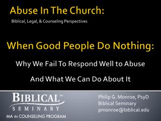 Abuse In The Church: