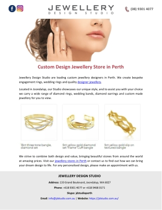 Custom Design Jewellery Store in Perth