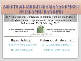 Assets  &Liabilities  Management in Islamic Banking