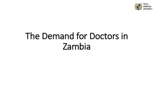 The Demand for Doctors in Zambia
