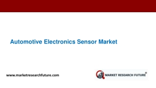 Automotive electronics sensor market