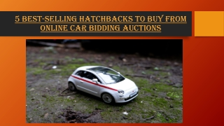 5 Best-Selling Hatchbacks to Buy from Online Car BiddingAuctions