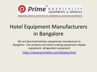 hotel equipment manufacturers in bangalore