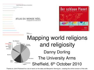 Mapping world religions and religiosity