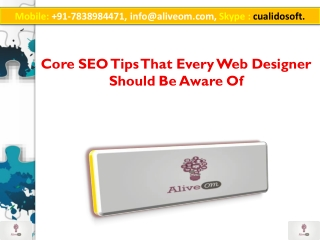 Core SEO Tips That Every Web Designer Should Be Aware Of