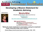 Developing a Mission Statement for Academic Advising