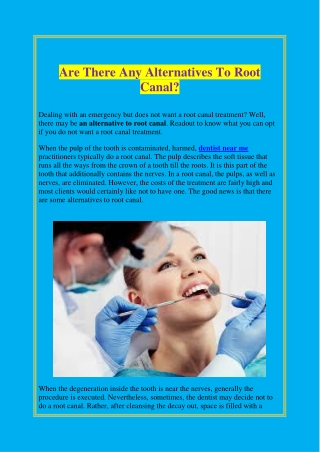 Are There Any Alternatives To Root Canal?
