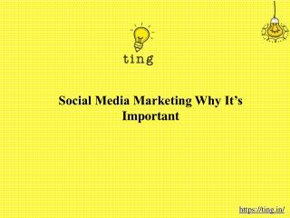 Social media marketing: Why it's important