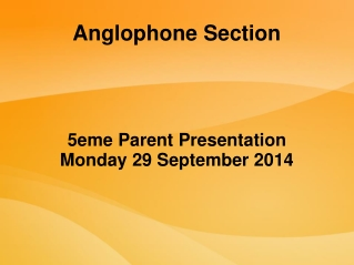 Anglophone Section
