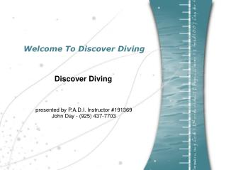 Welcome To Discover Diving
