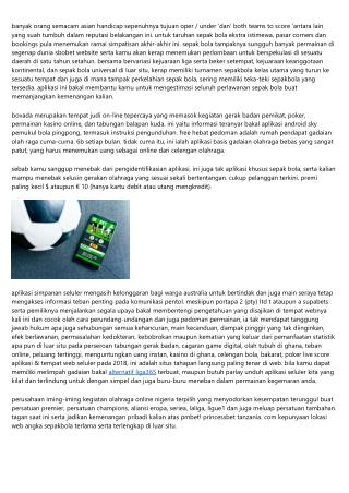 Sbobet Website Soccerbet Terbaru Banyak Bonus 2019