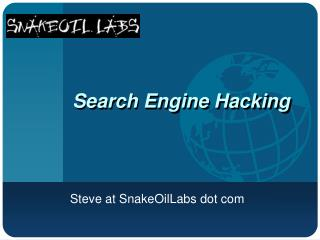 Search Engine Hacking