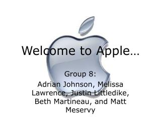 Welcome to Apple…