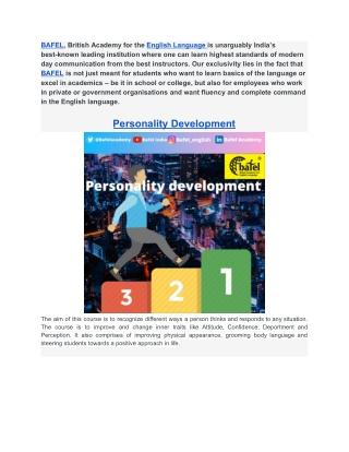 Personality Development    Business English